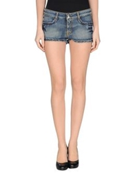 Twin Set Simona Barbieri Denim Shorts Blue