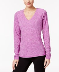 Ideology Rapidry Long Sleeve Performance Top Purple Cactus