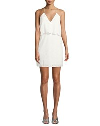 Cami Nyc The Ashley Popover Eyelet Mini Dress White