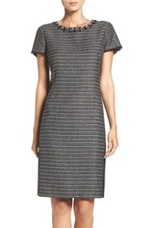 Ellen Tracy Women's Embellished Tweed Shift Dress