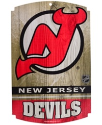 Wincraft New Jersey Devils Wood Sign