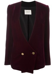 Lanvin Wrap Around Buttoned Blazer Pink Purple