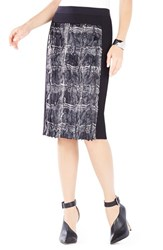 Women's Bcbgmaxazria 'Ines' Coated Faux Fur And Ponte Midi Skirt