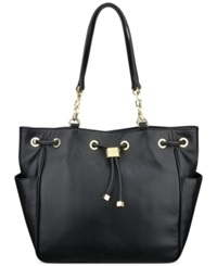 Anne Klein String Me Along Drawstring Hobo Black