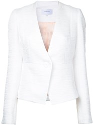 Carven Textured Fitted Jacket White