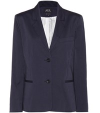 A.P.C. Cotton Blazer Blue
