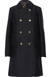 Belstaff Abberley Double Breasted Cotton And Silk Blend Trench Coat Blue
