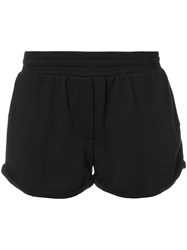 Alexander Wang Curved Hem Track Shorts Women Cotton Polyester Modal Xs Black
