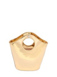 Elizabeth And James Small Market Metallic Faux Leather Bag Gold