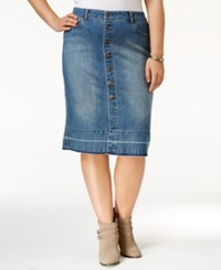 Styleandco. Style Co. Plus Size Button Front Denim Skirt Only At Macy's Classon