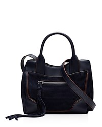 Elizabeth And James Andie Suede Mini Satchel Royal Blue Silver