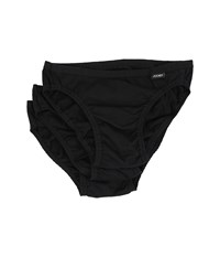 Jockey Elance Bikini 3 Pack Black Men's Underwear