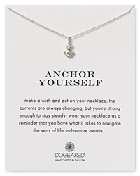 Dogeared Anchor Yourself Necklace 18 Sterling Silver