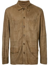 Desa Collection Buttoned Jacket Men Suede 52 Brown