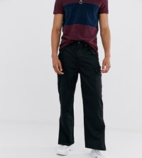 Reclaimed Vintage Black Cargo Trousers With Side Split