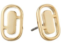 Marc Jacobs Icon Cut Out Studs Earrings Gold