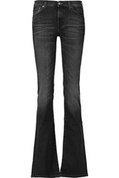 7 For All Mankind Mid Rise Skinny Jeans Dark Gray