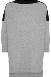 Amanda Wakeley Woman Two Tone Cashmere And Wool Blend Sweater Gray