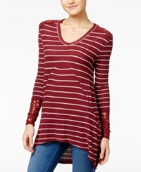American Rag Printed Waffle Knit High Low Tunic Only At Macy's Zinfandel