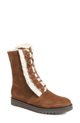 Aquatalia By Marvin K Women's Payton Genuine Shearling Boot Chestnut