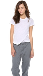 James Perse Sheer Slub Crew Neck Tee White