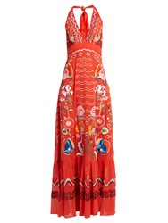 Temperley London Chimera Embroidered Silk Georgette Dress