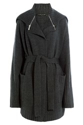 Barbara Bui Merino Wool Cardigan Grey