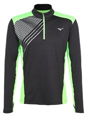 Mizuno Venture Long Sleeved Top Black Green Gecko