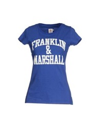 Franklin And Marshall T Shirts Blue