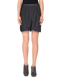 Rick Owens Mini Skirts Lead