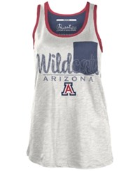 Royce Apparel Inc Women's Arizona Wildcats Campbell Pocket Slub Tank White Navy