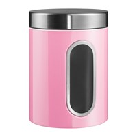 Wesco Kitchen Storage Canister With Window Pink