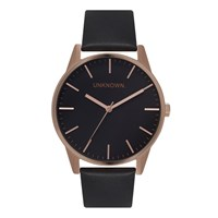 Unknown Men's The Classic Watch Black Dial Rose Gold