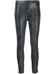 J Brand Darcy Snake Effect Pull On Trousers 60