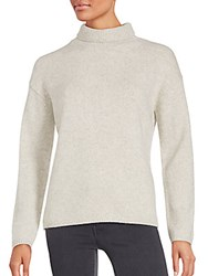 Vince Long Sleeve Sweater Heather White