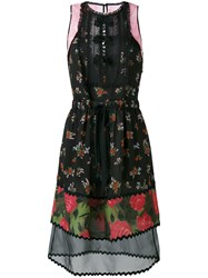 Coach Floral Patchwork Dress Women Silk Cotton Polyamide Cupro 4 Black