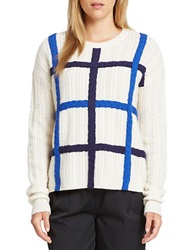 424 Fifth Wool And Cashmere Dimensional Sweater Evening Blue