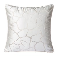 Varaluz Square Throw Pillow White Crackle
