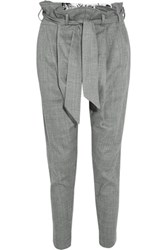 Vivienne Westwood Anglomania Kung Fu Flannel Tapered Pants Light Gray