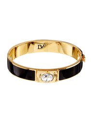 Diane Von Furstenberg Enamel And Gold Plated Cuff