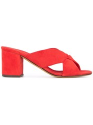 Alumnae Heeled Slippers Red