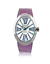 Locman Change Stainless Steel Oval Case Women's Watch W 3 Leather Straps Multicolor