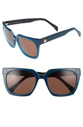 Draper James Women's 54Mm Square Sunglasses Blue
