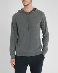 American Vintage Charcoal Raw Edges Rock Hoody
