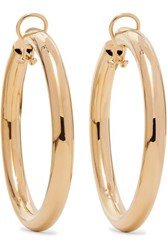 Jennifer Fisher Samira 2 Gold Plated Clip Hoop Earrings One Size