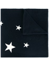 Chinti And Parker Star Intarsia Scarf Blue