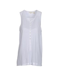 Inhabit Sleeveless Sweaters White