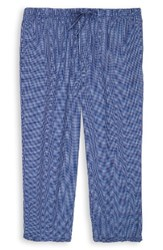 Nordstrom Men's Big And Tall Men's Shop Lounge Pants Blue Plaid
