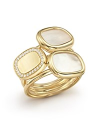 Roberto Coin 18K Yellow Gold Ring With Mother Of Pearl And Diamonds