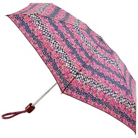 Fulton Tiny 2 Daisy Stripe Umbrella Pink Purple